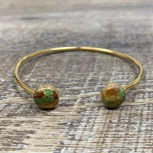Jewelry - Druzy Stone Gold Electroplated Bracelet